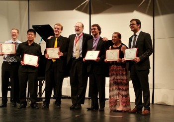 Dr. G adjudicates the International Horn Competition