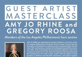 Los Angeles Philharmonic Masterclass at UCSB!